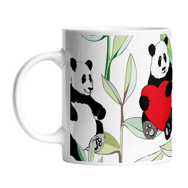 Ceramiczny kubek Panda With Bamboo, 330 ml