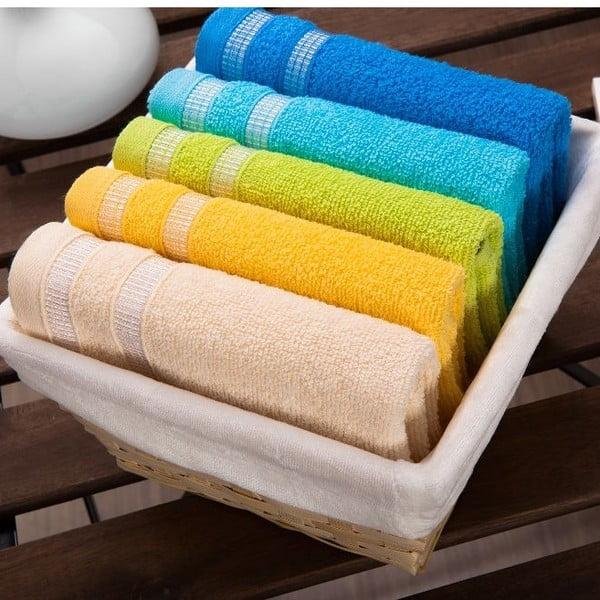 Zestaw 5 ręczników White Basket, 30x50 cm