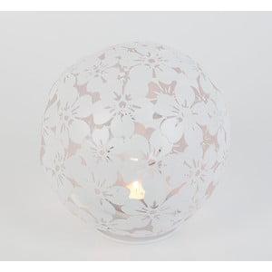 Metalowy świecznik Flowers, biały