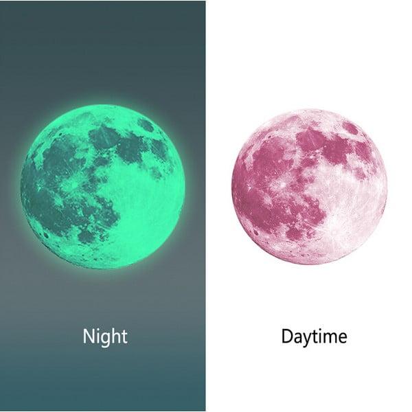 Naklejka zmieniająca kolor w ciemności Moon