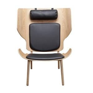 Czarny fotel NORR11 Mammoth Slim