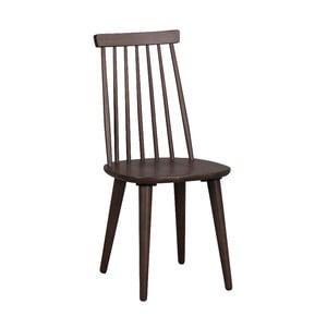 Brązowe krzesło do jadalni z drewna kauczukowca Rowico Lotta