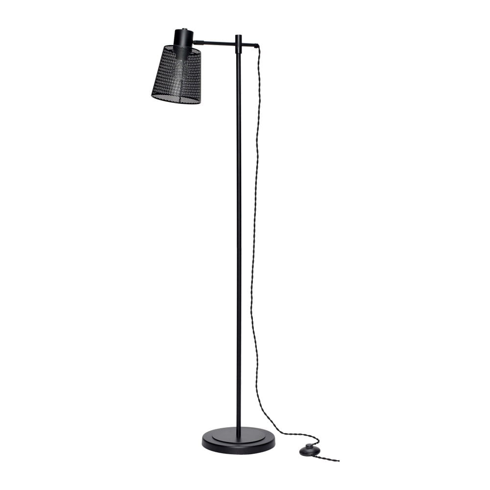 Czarna lampa stojąca Hübsch Laharho