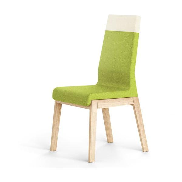 Zielone krzesło dębowe Absynth Kyla Two