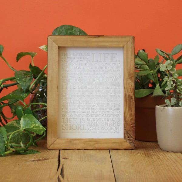 Plakat White Manifesto z kolorowymi świecówkami, 13x18 cm