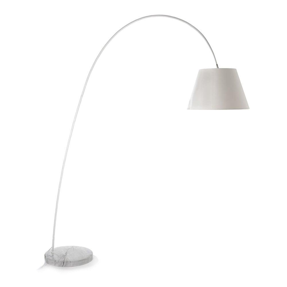 Lampa stojąca z białym kloszem i marmurową podstawą Tomasucci Smarty