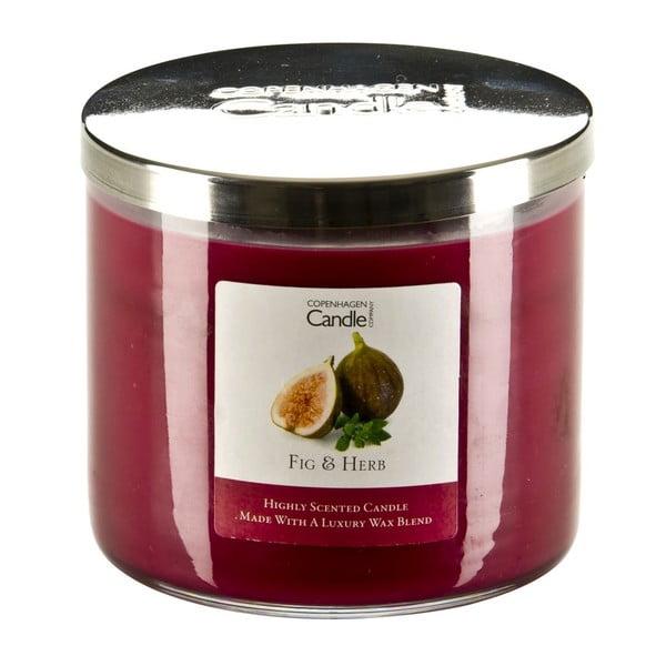 Świeczka zapachowa o zapachu fig i ziół Copenhagen Candles,czas palenia 50 godz.