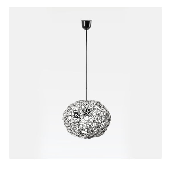 Lampa wisząca Kula, 32x25 cm, biała