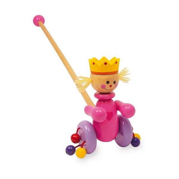 Zabawka drewniana na kiju Legler Queen