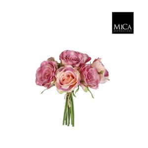 Sztuczny kwiat Ego Dekor Bukiet różowych róż