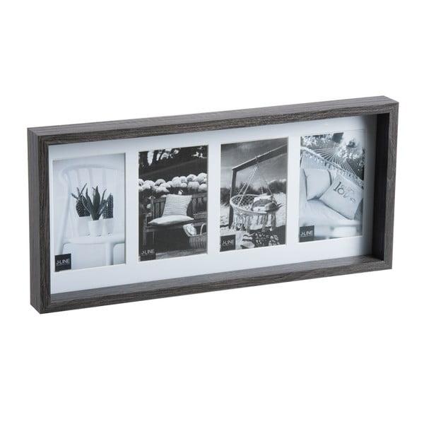 Ramka na zdjęciana 4 fotky Black Frame, 22x47 cm
