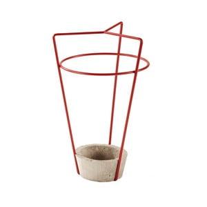 Czerwony parasolnik z betonową podstawą MEME Design Ambrogio