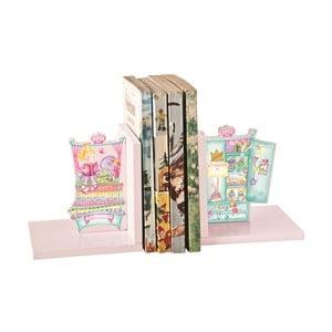 Różowe podpórki na książki Once