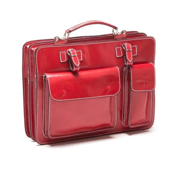 Czerwona pikowana torebka