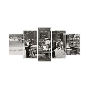 Wieloczęściowy obraz Black&White no. 26, 100x50 cm