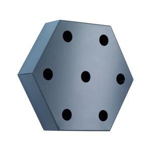 Stojak na wino Hexagon, niebieski