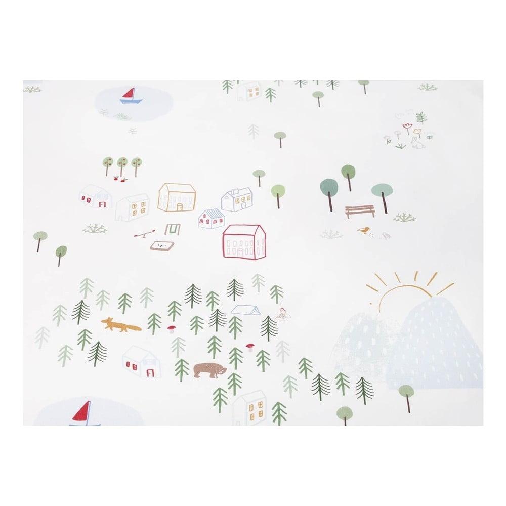 Bawełniana pościel jednoosobowa Mumla Maps, 140x200 cm