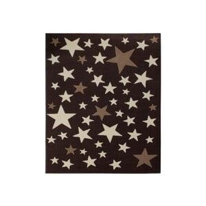 Dywan City & Mix - brązowy w gwiazdy, 140x200 cm