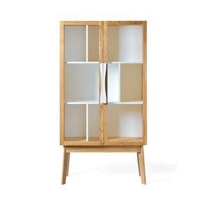 Biała biblioteczka/witryna Woodman Avon