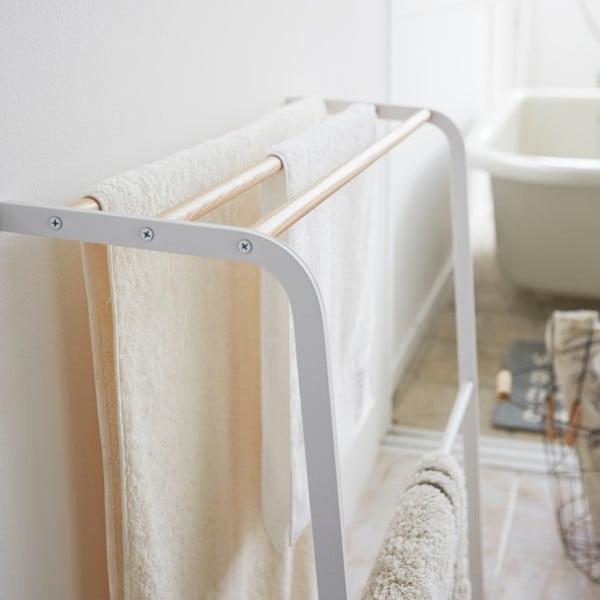 Biały wieszak na ręczniki Yamazaki Tosca