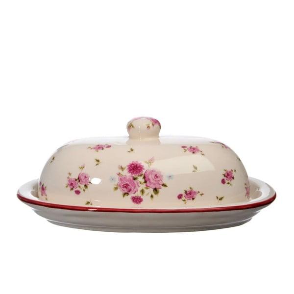 Ceramiczna maselniczka Rose