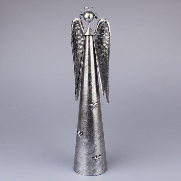Srebrny anioł Dakls, wys. 49 cm