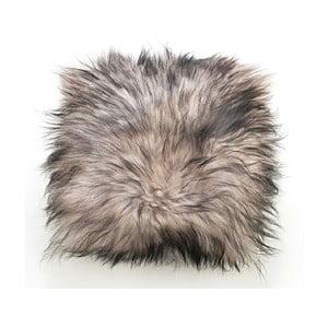 Dwustronna futrzana poduszka z długim włosem Silver, 50x50 cm