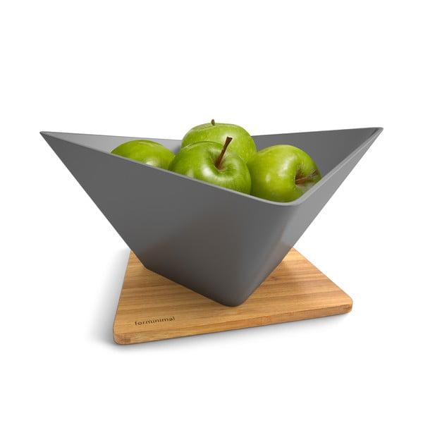 Miska na owoce z podstawką Draining Fruit Bowl, szara