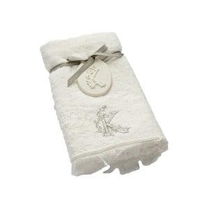 Ręcznik z inicjałem K, 50x90 cm