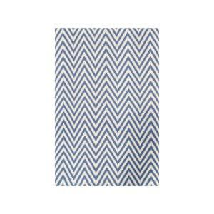 Dywan wełniany Zig Zag Light Blue, 240x155 cm