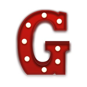 Światło dekoracyjne Carnival G, czerwone