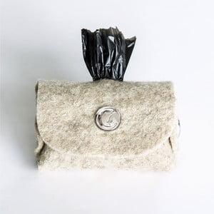 Torebka na woreczki na psie odchody Cloud7, srebrna