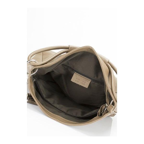 Beżowa torebka skórzana Markese 5008 Fango