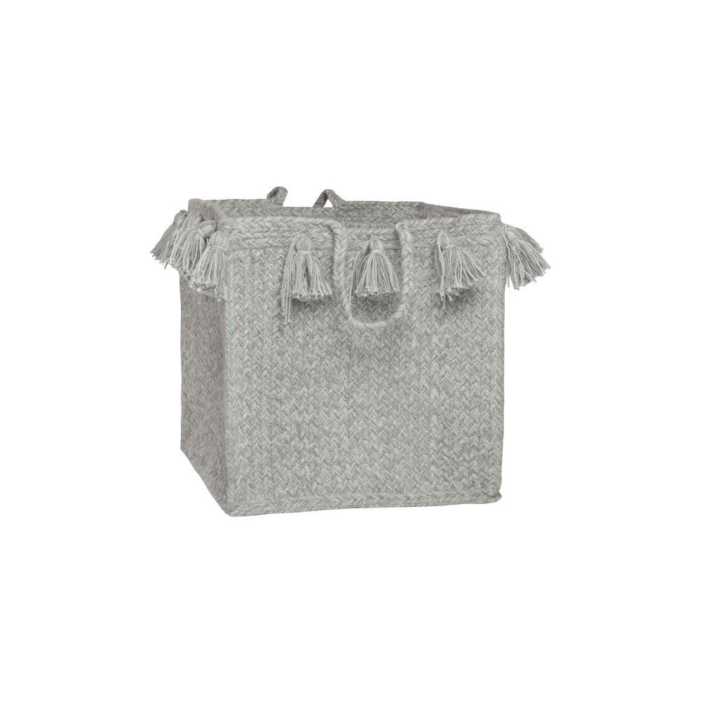 Szary koszyk bawełniany tkany ręcznie Nattiot, Ø 25 cm