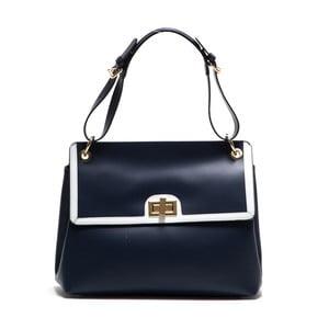 Niebieska torebka skórzana Anna Luchini