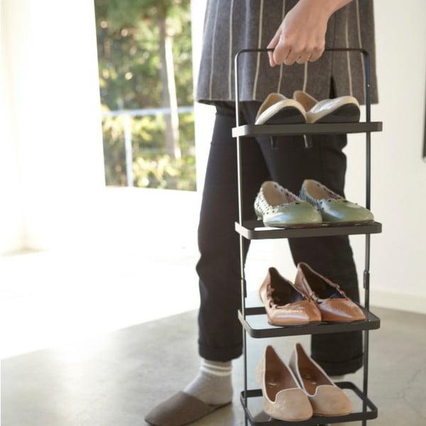 Czarna wysoka półka na buty Yamazaki Tower Shoe Rack
