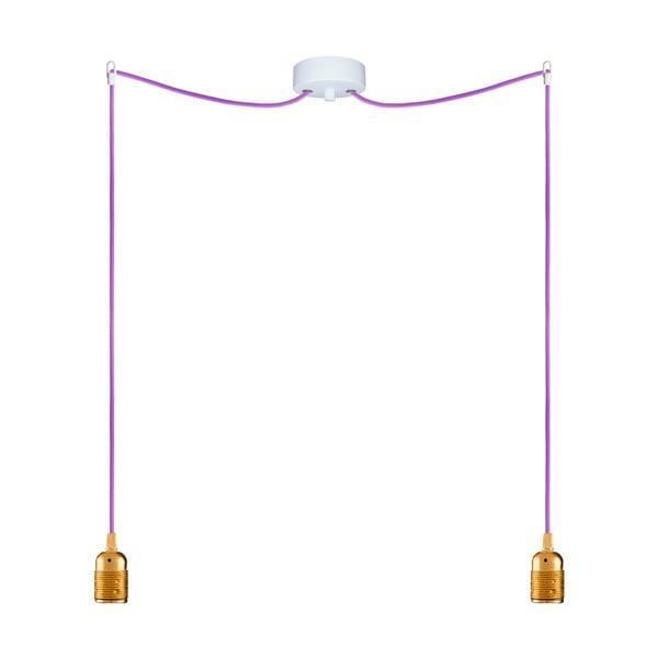 Dwa wiszące kable Uno, złoty/fioletowy