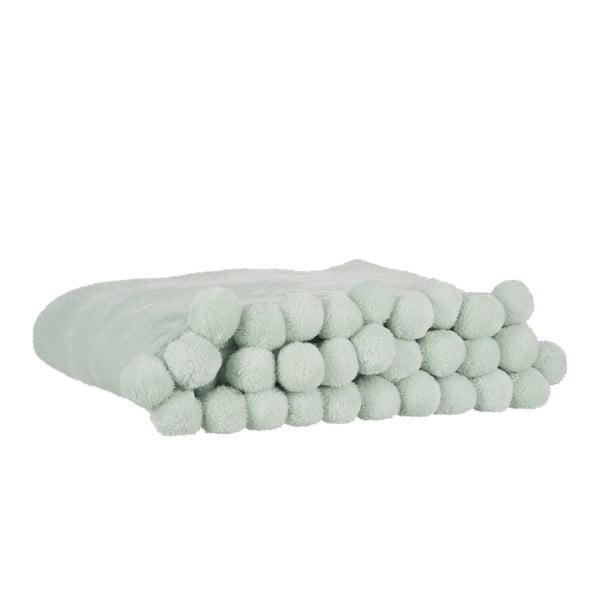 Pled Pom-Pom Light Mint, 130x170 cm