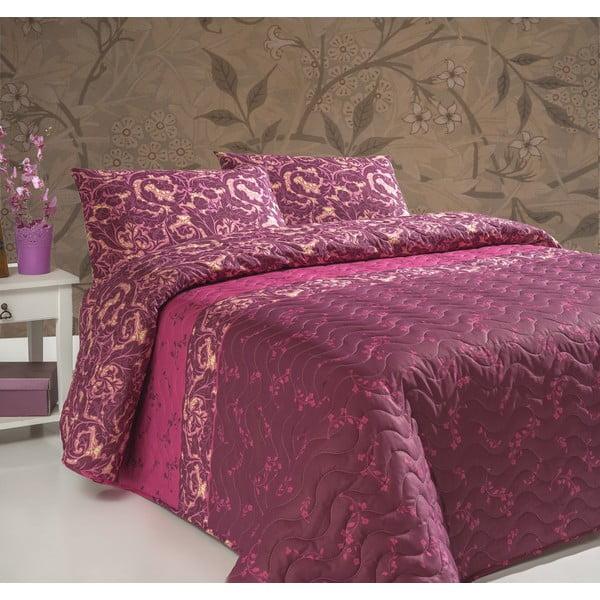 Pikowana narzuta z poszewkami na poduszki Gulistan, 200x220 cm