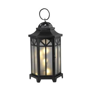Czarny lampion LED Best Season Kantis 40 cm