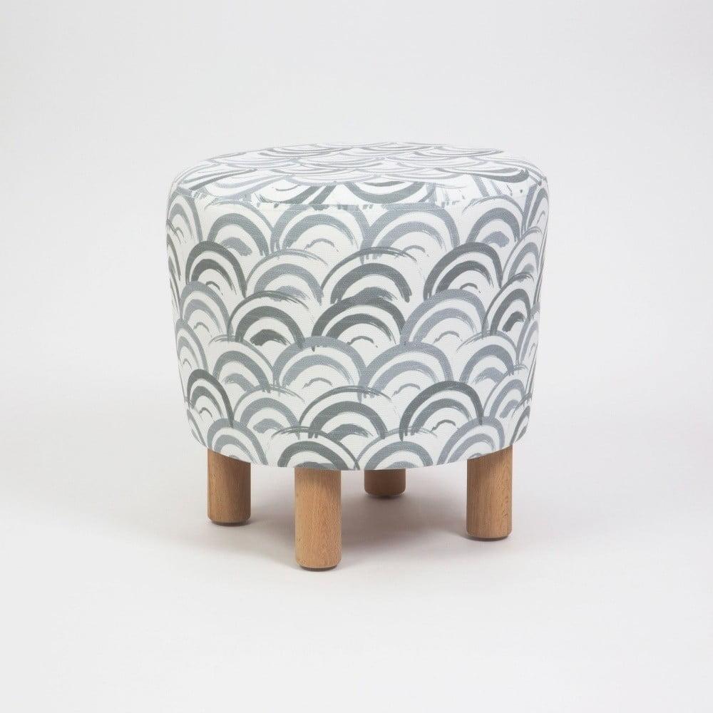 Taboret z drewnianymi nogami Cono Mimar, ⌀ 41 cm