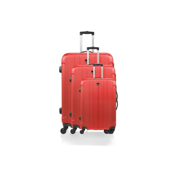 Zestaw 3 walizek Loisa, czerwone