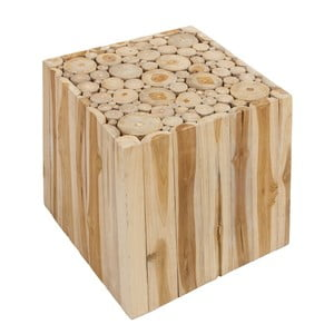 Stołek z drewna tekowego Santiago Pons Mesa