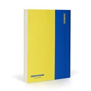 Notes FANTASTICPAPER A5 Lemon/Blue, w kratkę