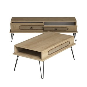 Zestaw stolika i szafki pod TV Ekol Oak