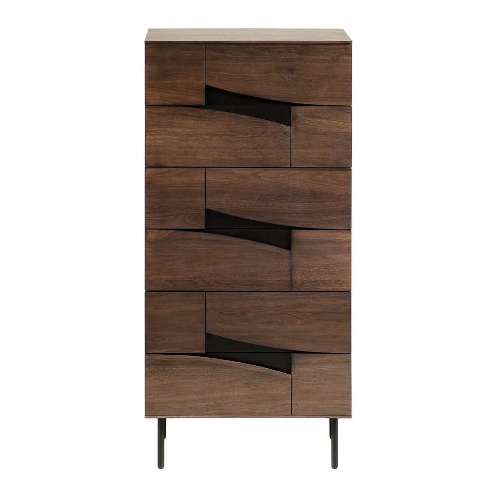 Brązowa szafka z szufladami, La Forma Cutt, 60x40 cm