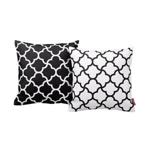 Zestaw 2 poduszek Black&White, 43x43 cm
