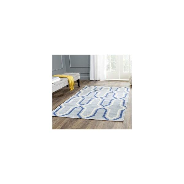 Wełniany dywan Aklim 152x243 cm, niebieski