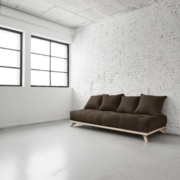 Sofa Senza Natural/Choco Brown