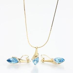 Zestaw Laura Bruni Swarovski Elements Aqua